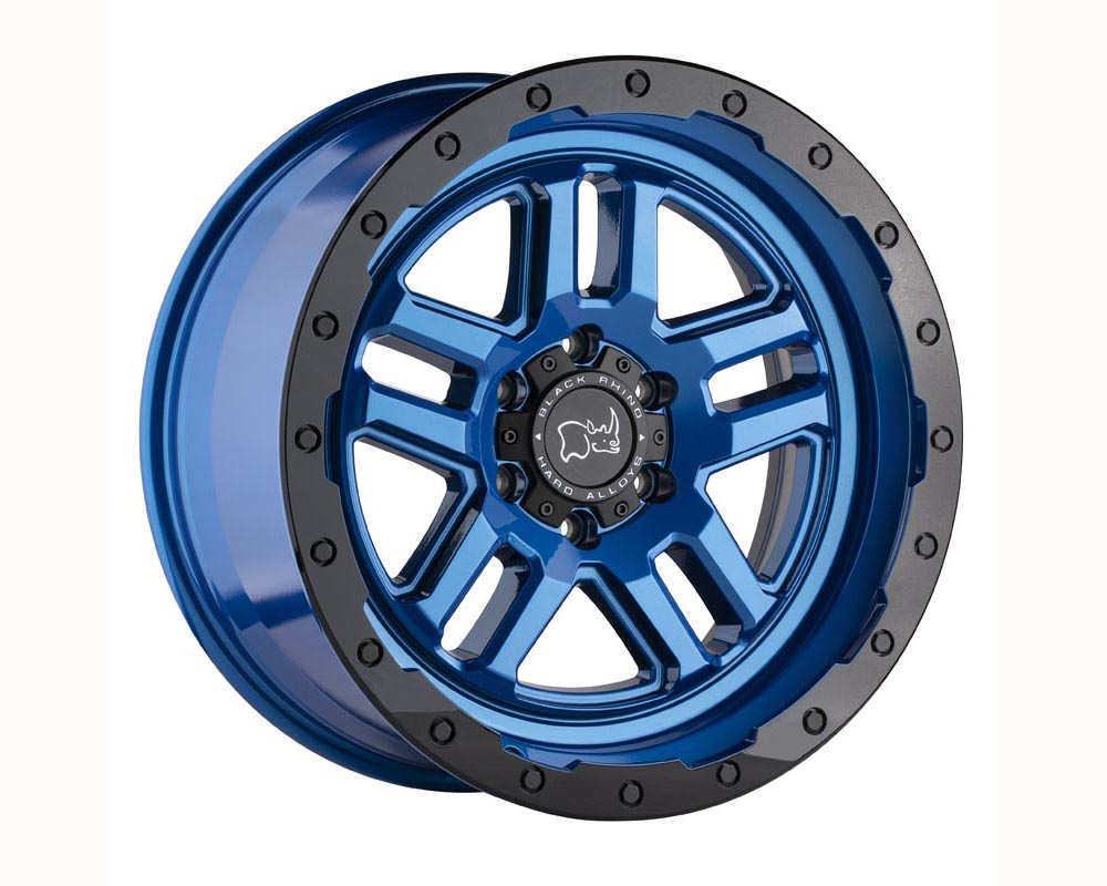 Black Rhino Barstow Wheel 18x9.5 6x135 12 Dearborn Blue w/Black Lip Edge