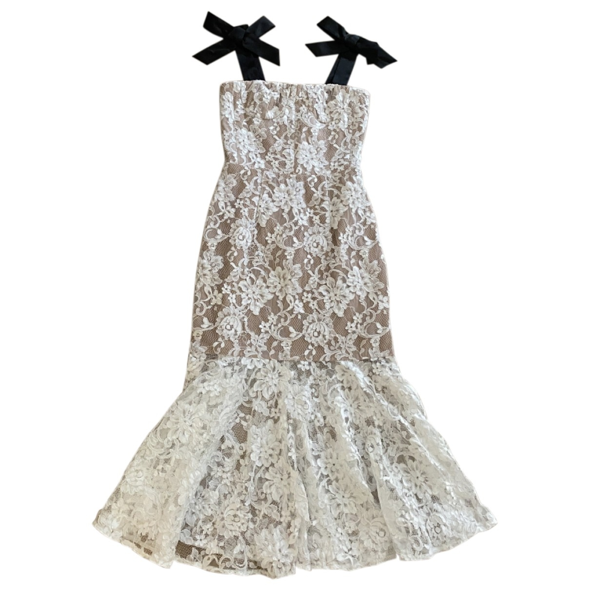 Non Signé / Unsigned \N White Lace dress for Women XS International