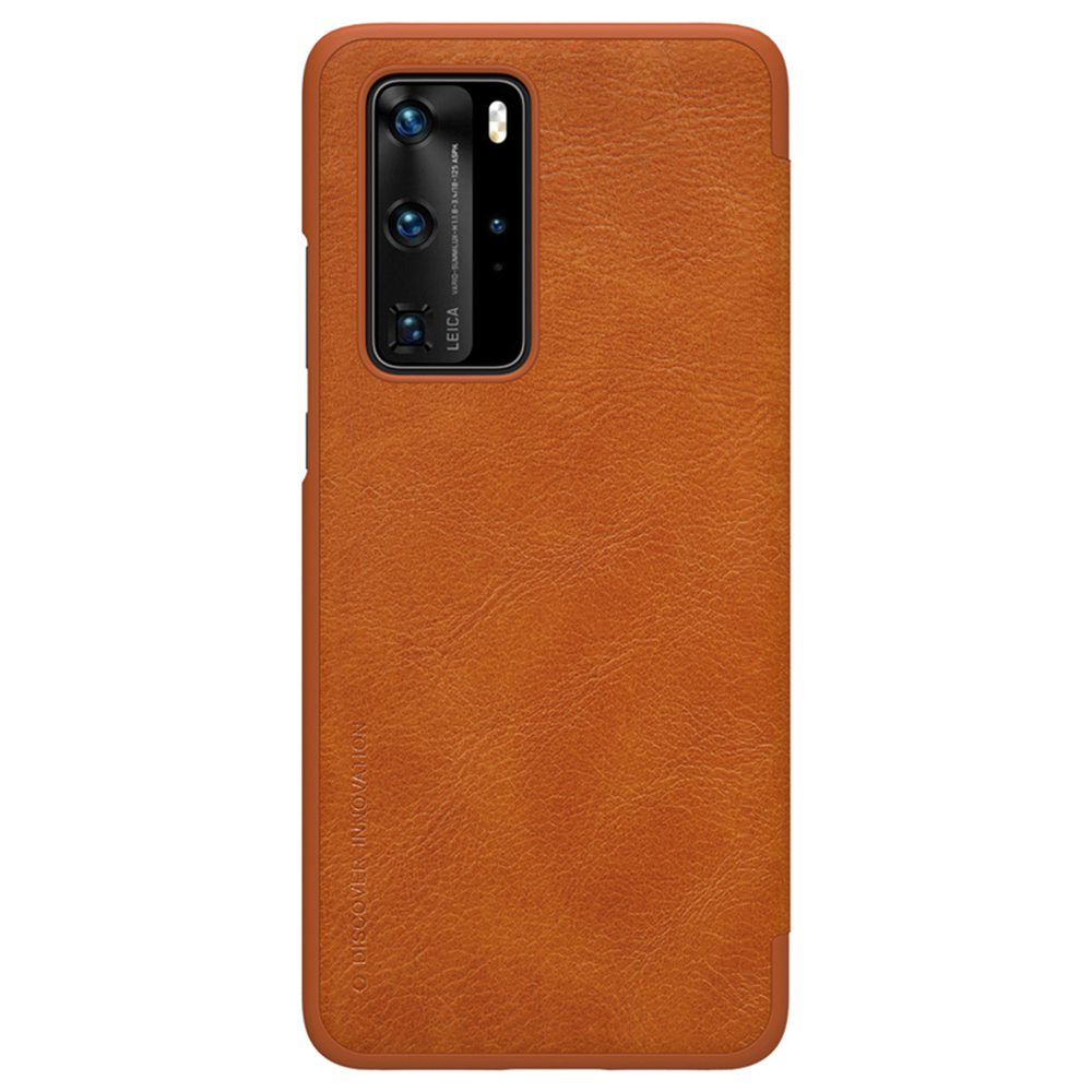 NILLKIN Protective Leather Phone Case For HUAWEI P40 Pro Smartphone - Brown