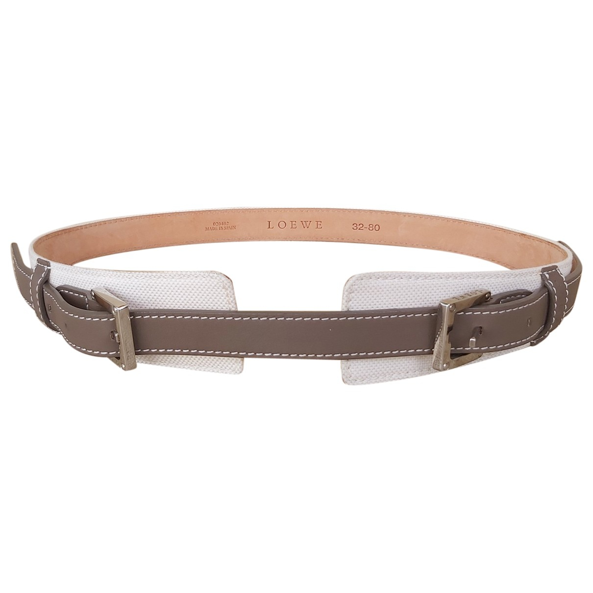 Loewe \N Brown Leather belt for Women 80 cm