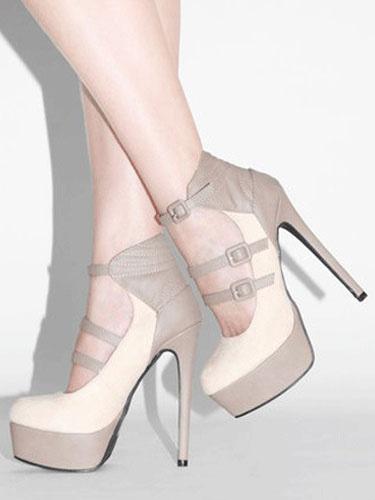Milanoo Chic Platform High Heels Women's Sexy Party Dress Shoes Round Toe Pumps