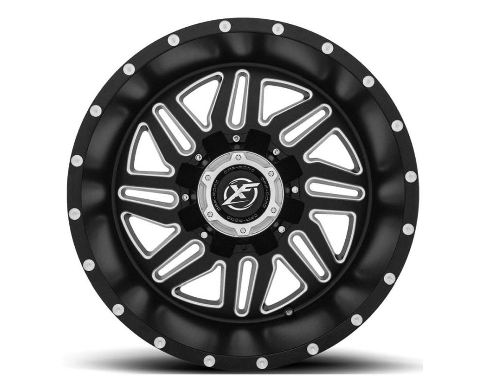 XF Off-Road XF-201 Wheel 20x10 5x127|5x139.7 -24mm Matte Black w/ Milled Window