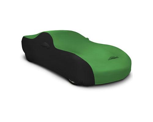Coverking CVC4SS286BM9360 CVC4SS286 Satin Stretch 2-Tone Black Sides Synergy Green Center Custom Car Cover BMW 430i   440i F32 2018-2021