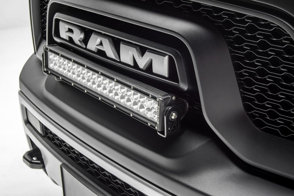2015-2018 Ram Rebel Front Bumper Top LED Bracket to mount (1) 20 Inch LED Light Bar PN Z324552