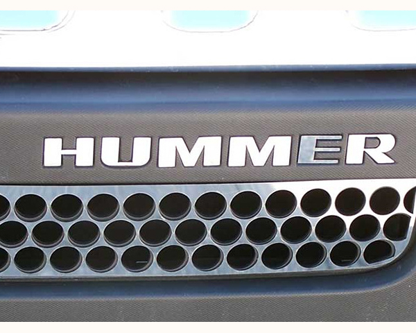 Quality Automotive Accessories 6-Piece Stainless Steel Front Letter Inserts Hummer H3 | H3T 2006