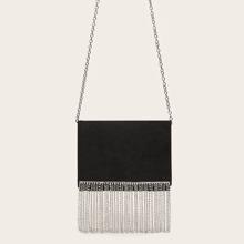 Fringe Decor Clutch Bag