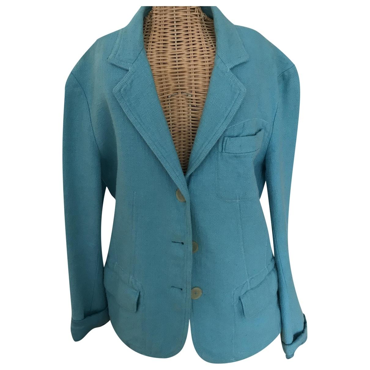 Jil Sander \N Blue Linen jacket for Women 36 IT