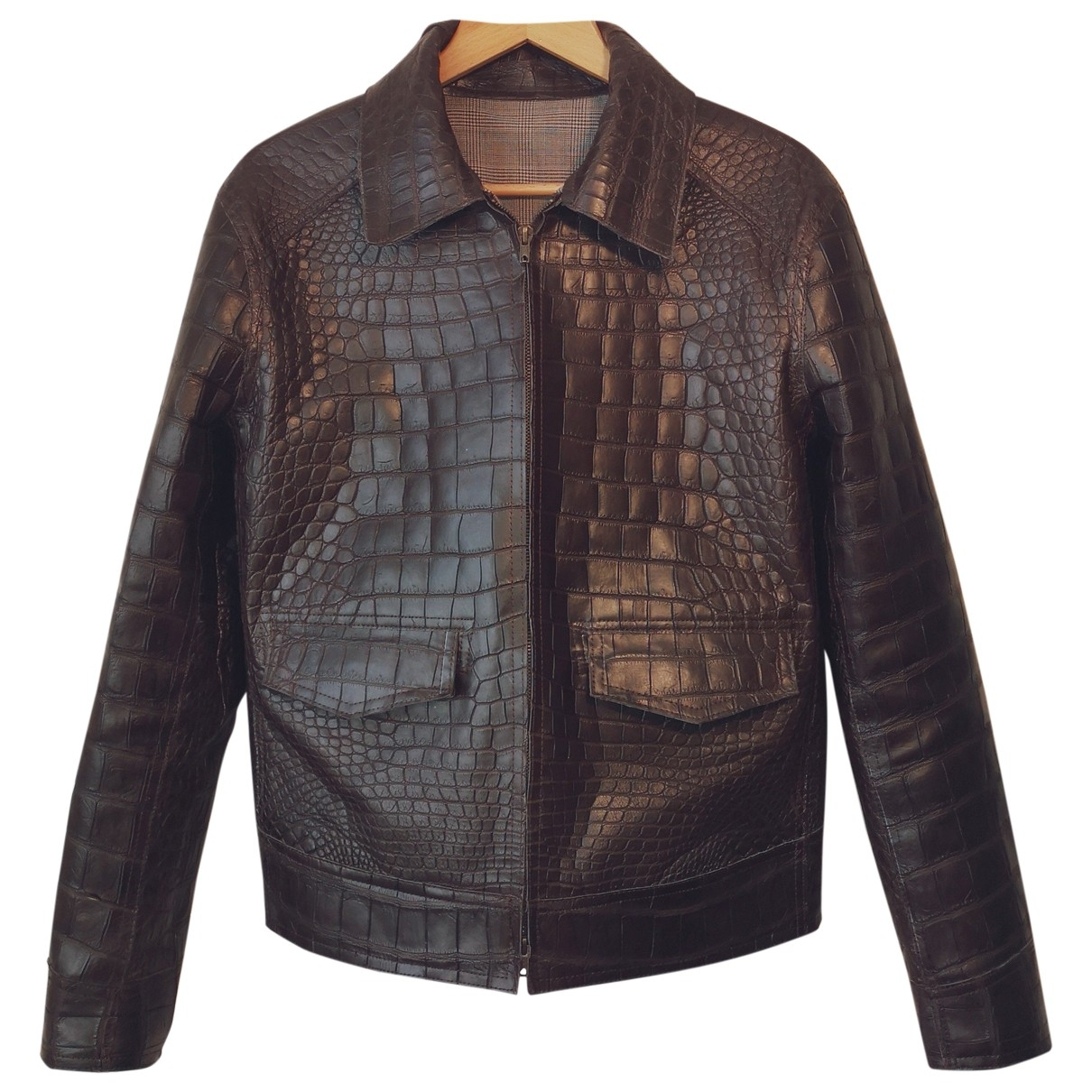 Non Signé / Unsigned \N Brown Crocodile jacket  for Men L International