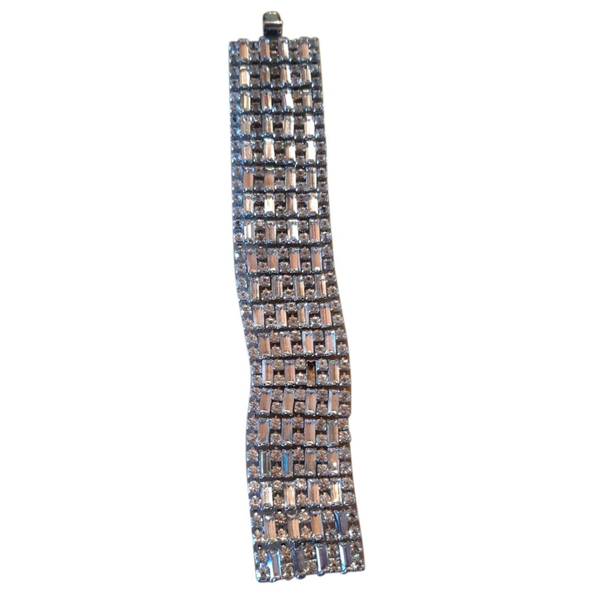 Non Signé / Unsigned \N White Metal bracelet for Women \N