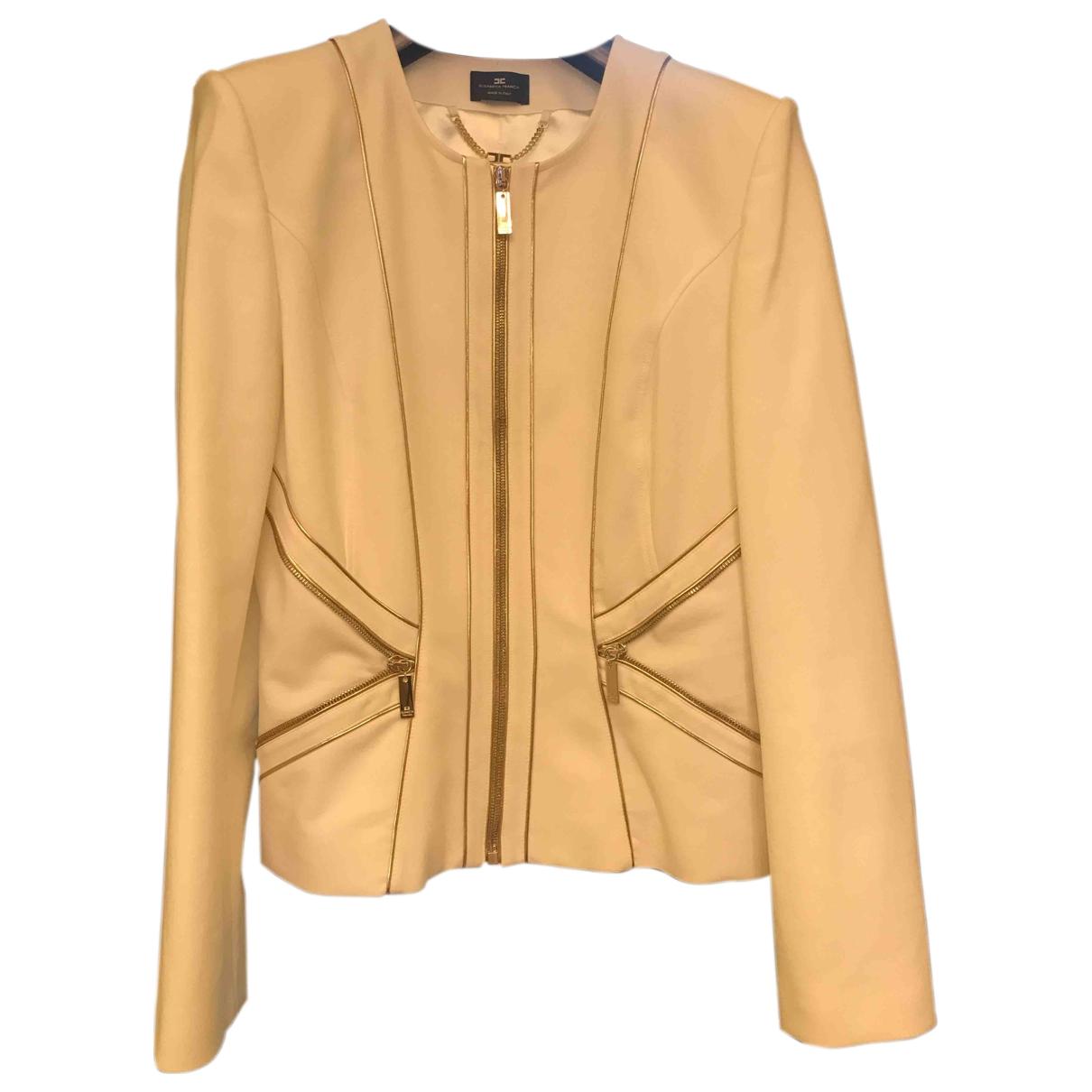 Elisabetta Franchi \N White jacket for Women 46 IT
