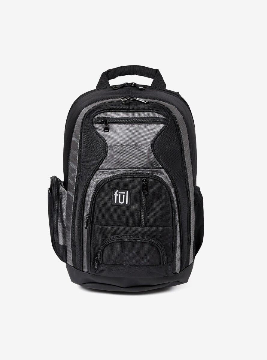 FUL Free Fallin' Padded Black Laptop Backpack
