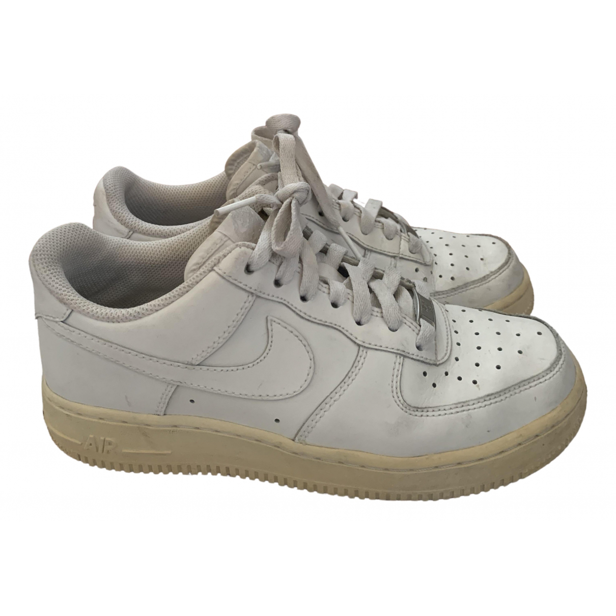Nike Air Force 1 White Leather Trainers for Women 38.5 EU
