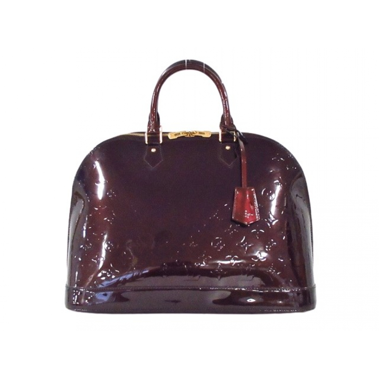 Louis Vuitton Alma Burgundy Patent leather handbag for Women \N
