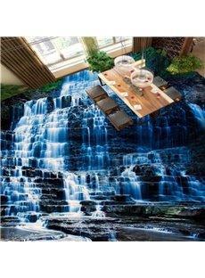 Three-dimensional Cool Waterfall in the Mountain Pattern Waterproof 3D Floor Murals