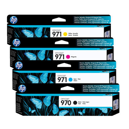 HP 970 971 Original Ink Cartridge Combo BK/C/M/Y