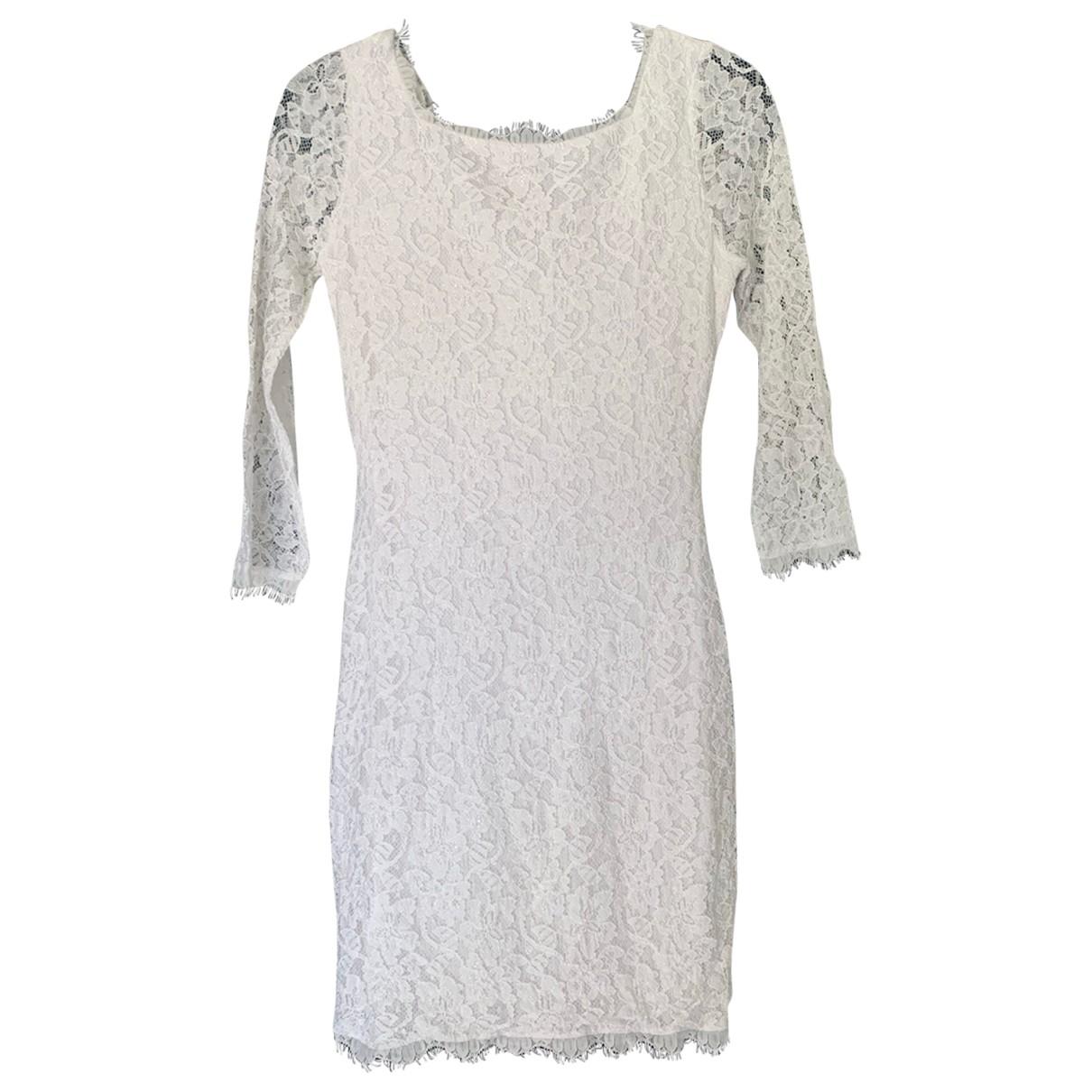 Diane Von Furstenberg \N White Lace dress for Women 6 US