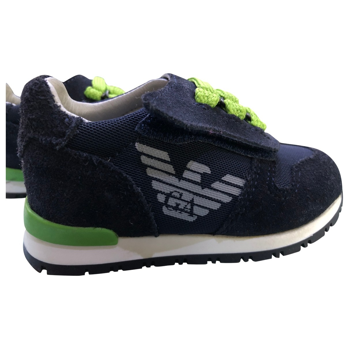 Armani Baby \N Blue Suede Trainers for Kids 21 EU