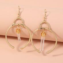 Crystal Decor Drop Earrings