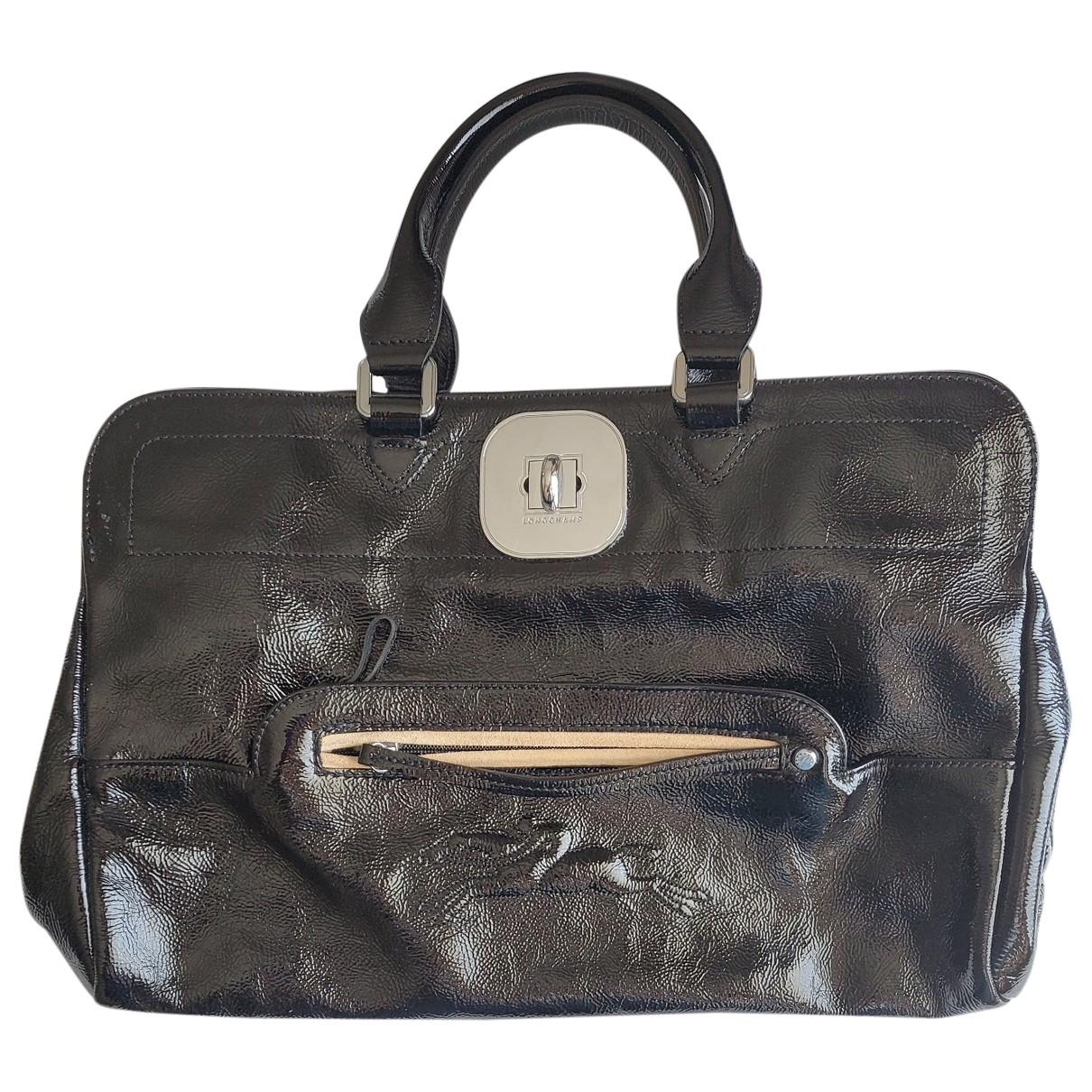Longchamp Gatsby Black Patent leather handbag for Women \N