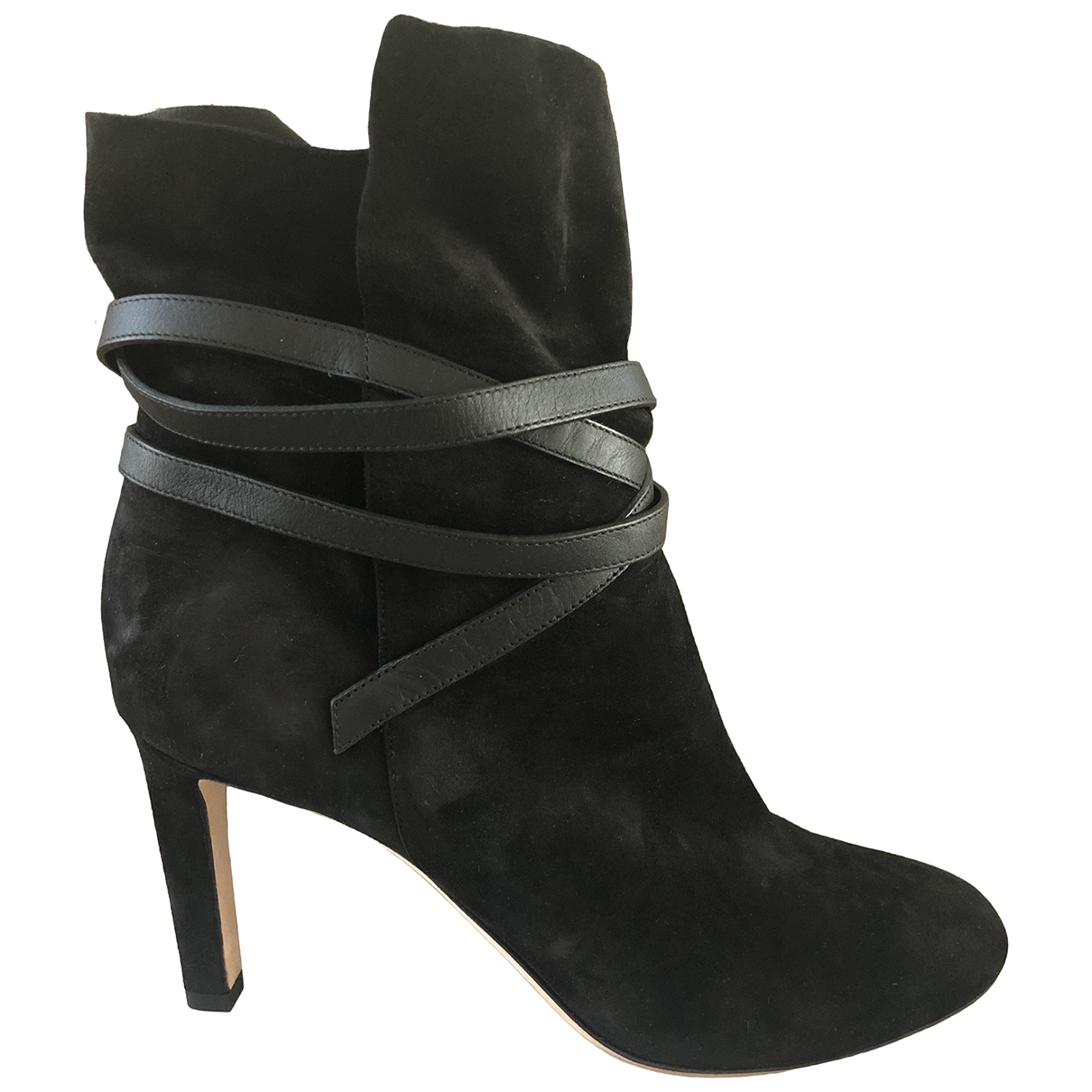 Jimmy Choo \N Black Suede Ankle boots for Women 37.5 EU
