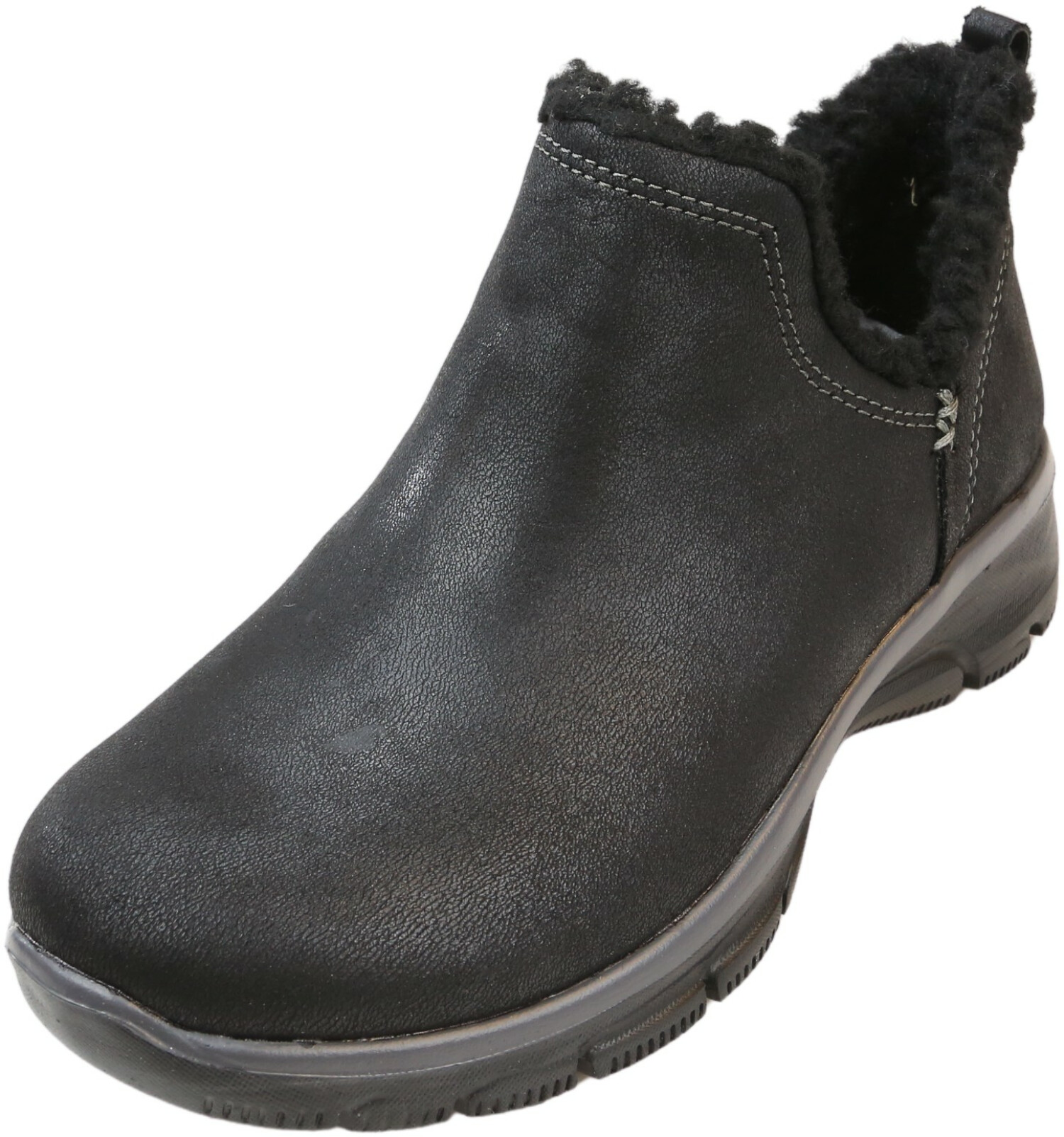 Skechers Women's Easy Going-Buried Black High-Top Fabric Snow Boot - 5M