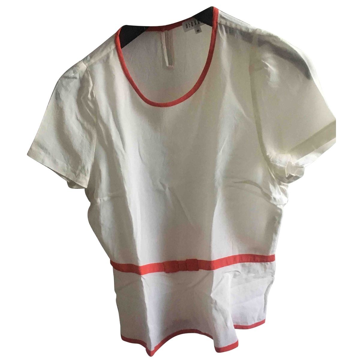 Claudie Pierlot \N Beige Silk  top for Women 40 FR