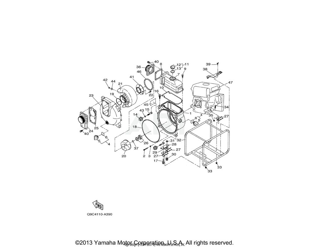 Yamaha OEM YJA-01162-02-02 WEAR PLATE (WT40X)