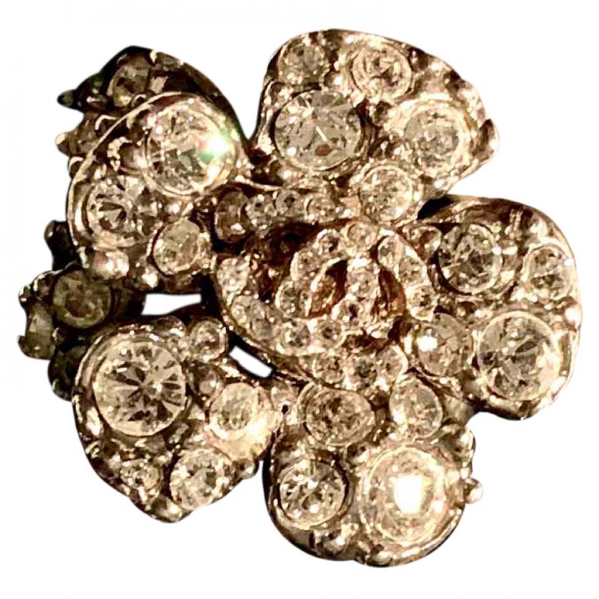 Chanel Camélia Silver Steel ring for Women 54 EU