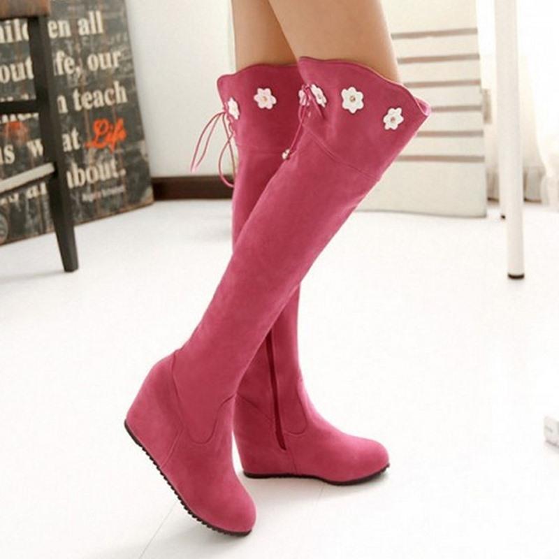 Ericdress Side Zipper Round Toe Thread Women's Boots