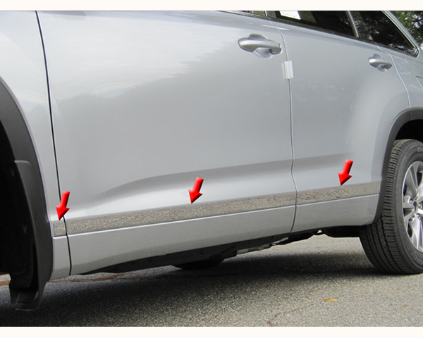 Quality Automotive Accessories 6-Piece Stainless Steel Rocker Panel Trim Kit Toyota Highlander 2015
