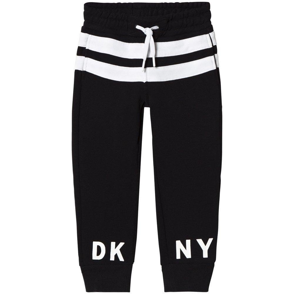 DKNY Printed Logo Joggers Black  Colour: BLACK, Size: 10 YEARS
