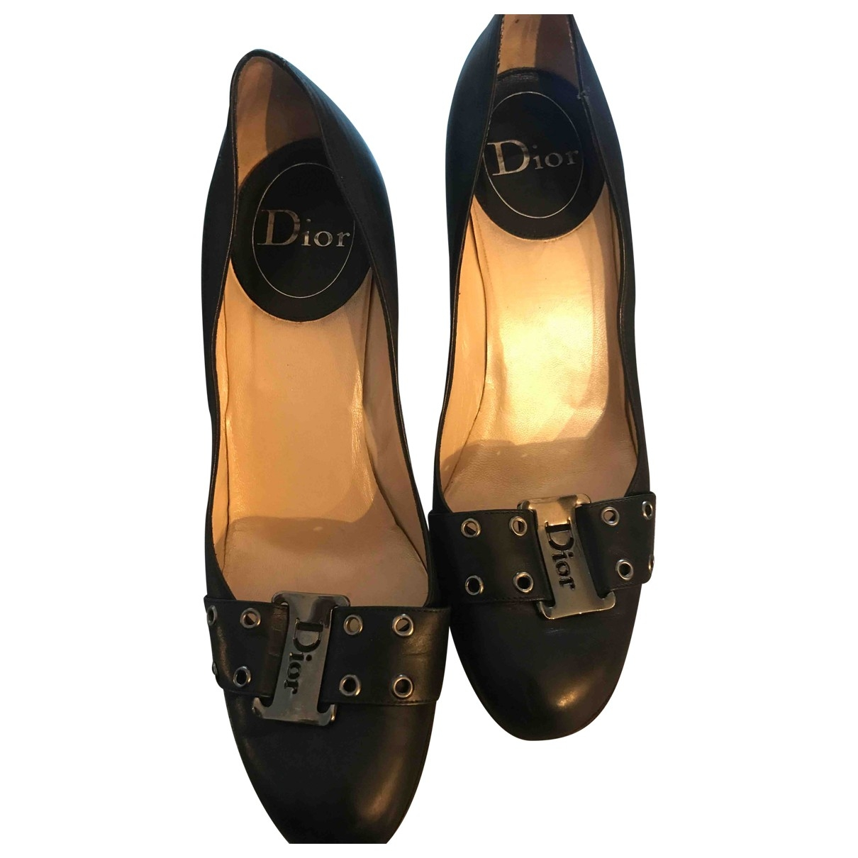Dior \N Black Leather Heels for Women 40 EU