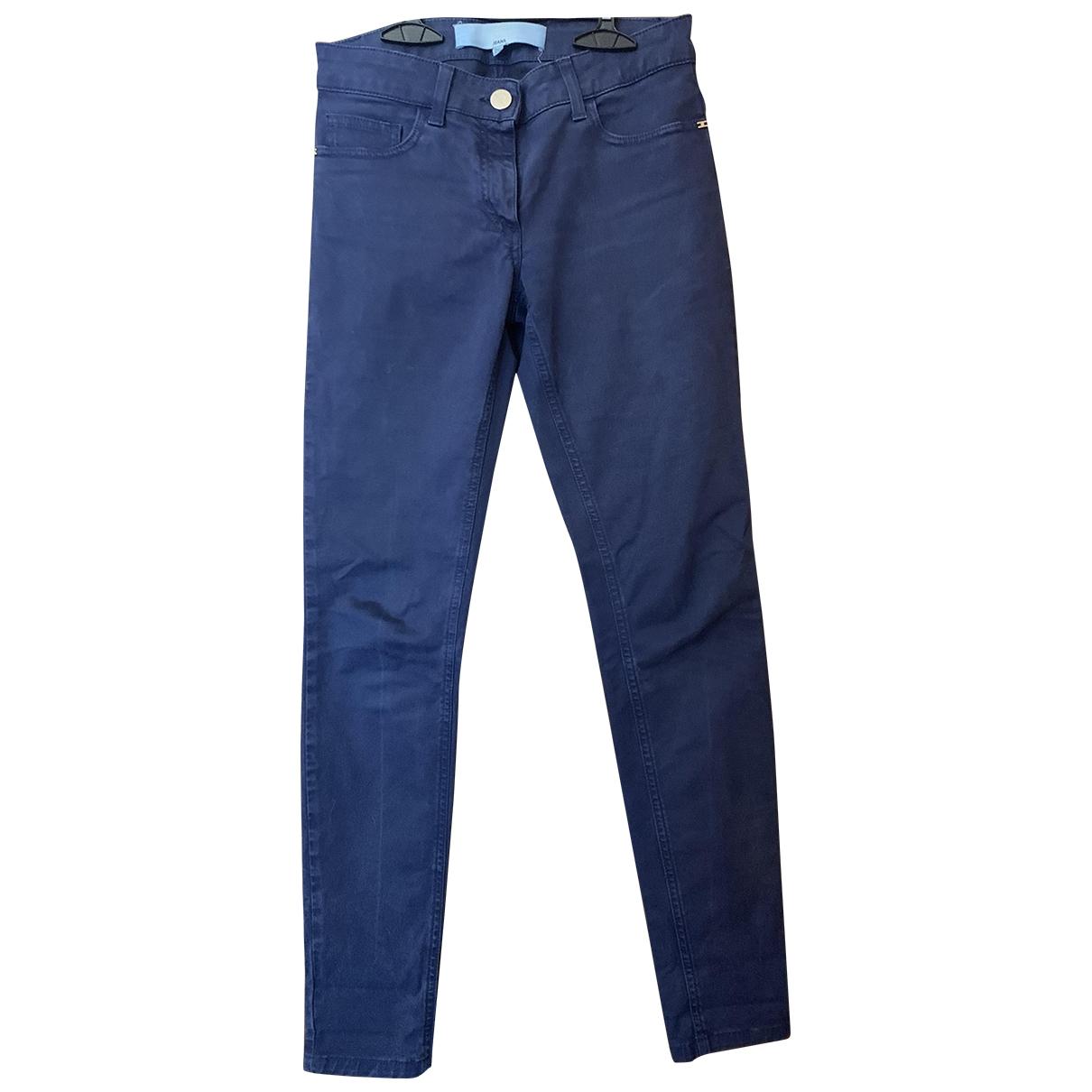 Elisabetta Franchi \N Blue Denim - Jeans Trousers for Women 40 IT