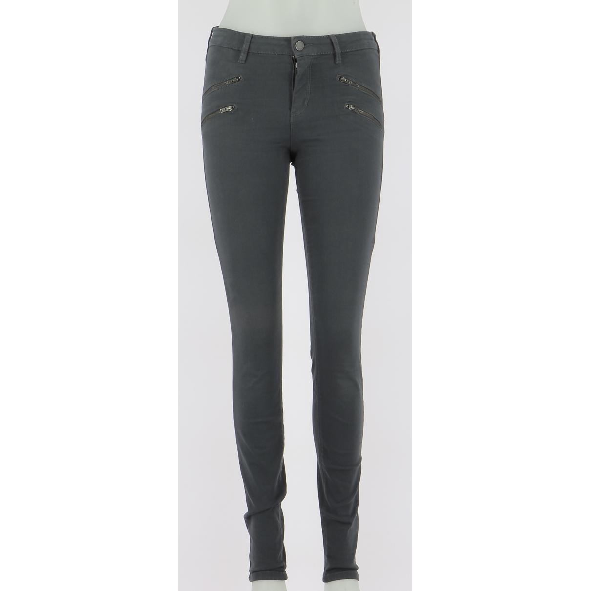 Comptoir Des Cotonniers \N Grey Cotton Trousers for Men 40 FR