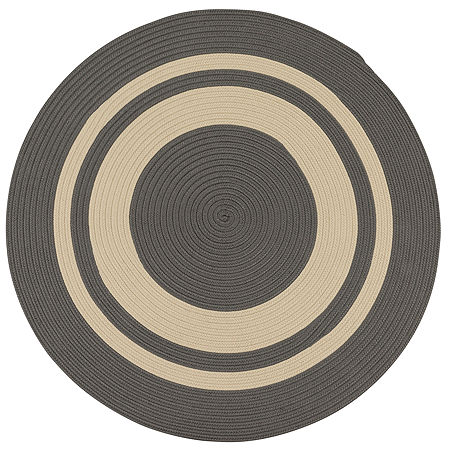Colonial Mills Oceanside Braided Round Reversible Indoor/Outdoor Rugs, One Size , Gray