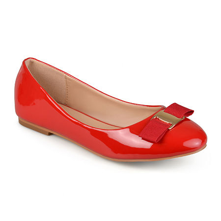 Journee Collection Womens Kim Ballet Flats, 11 Medium, Red