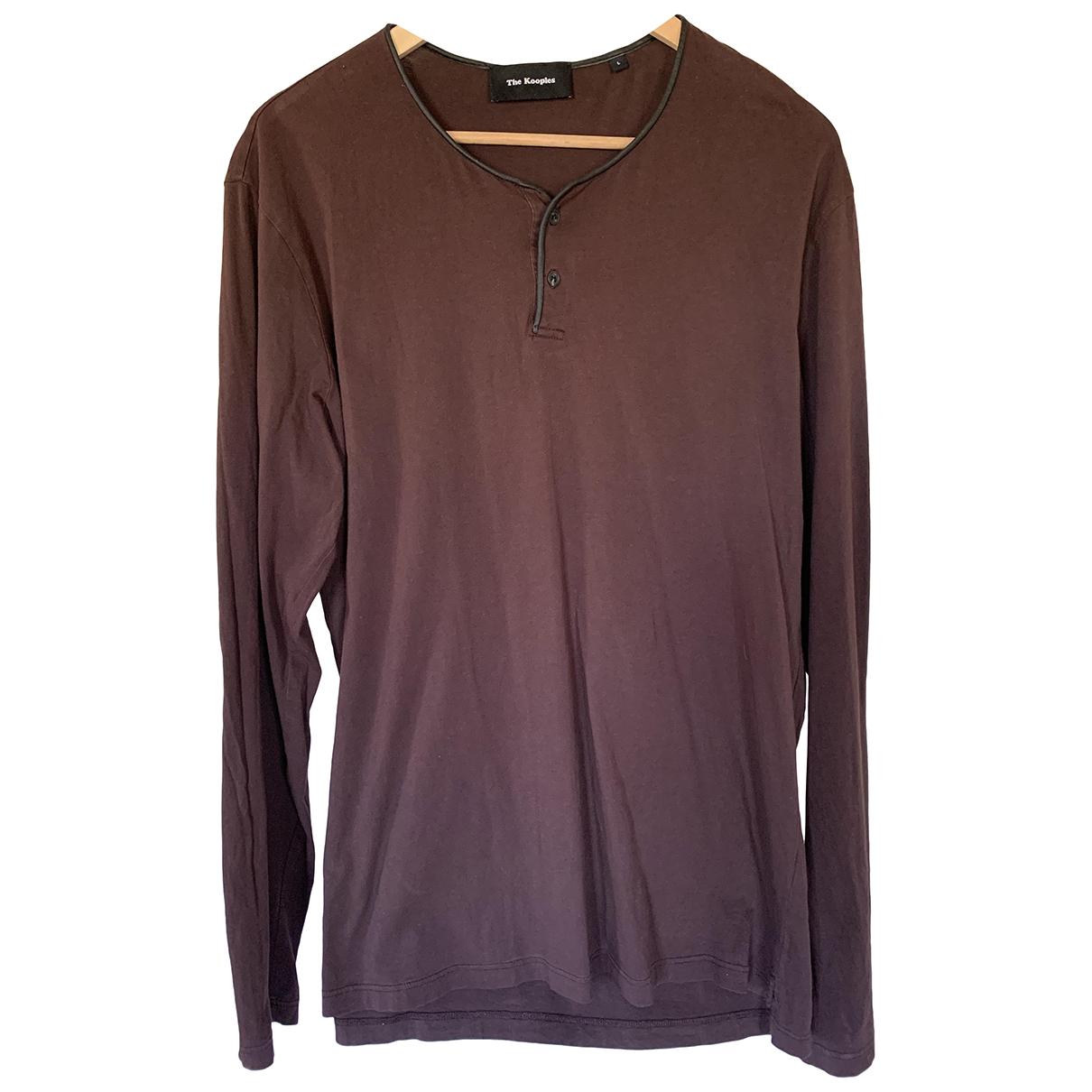 The Kooples \N Brown Cotton T-shirts for Men L International