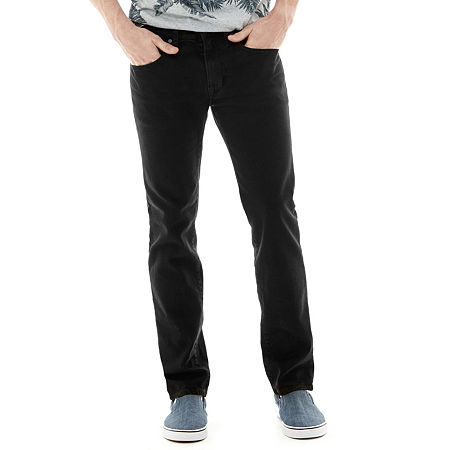 Arizona Men's Flex Skinny Jeans, 34 34, Black
