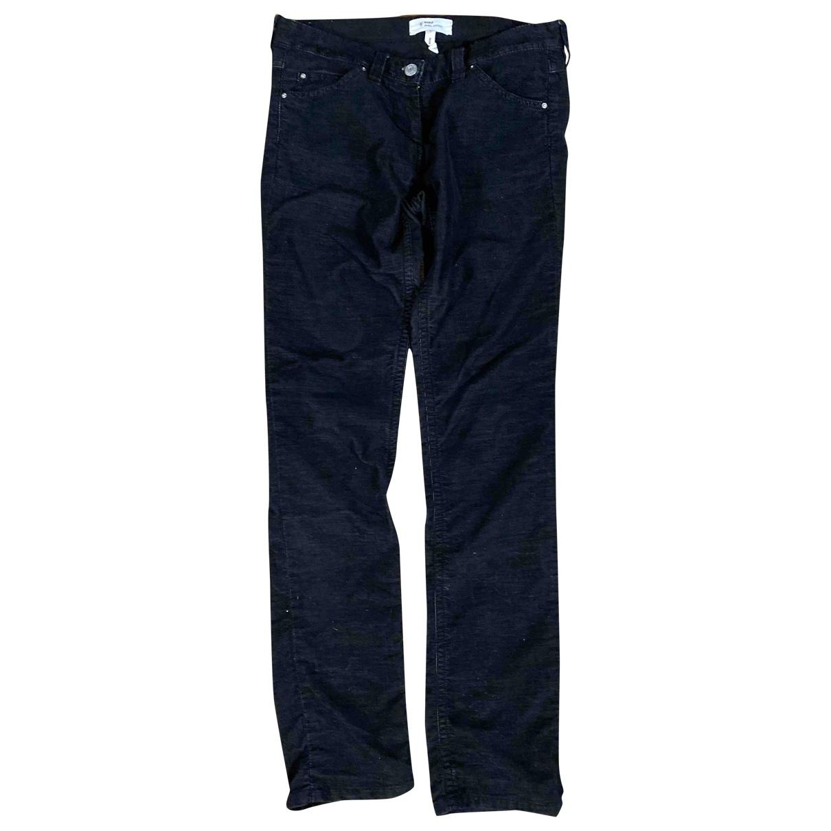 Isabel Marant Etoile \N Navy Cotton Trousers for Women XS International