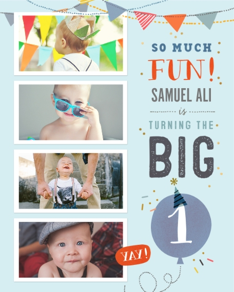 Baby + Kids 16x20 Poster(s), Board, Home Décor -So Much Fun Turning One