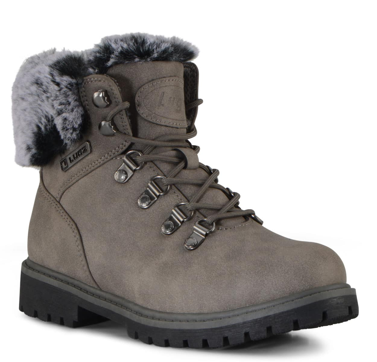 Women's Grotto II Fur 6-Inch Boot (Choose Your Color: CHARCOAL/BLACK, Choose Your Size: 5.5)