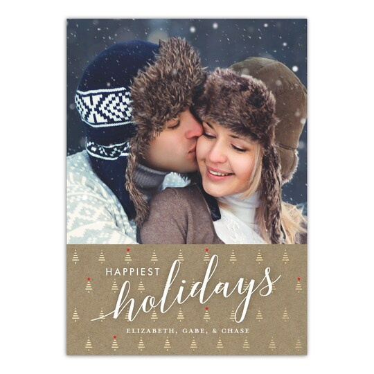 Gartner Studios® Personalized Happiest Holiday Trees Christmas Flat Photo Card | Michaels®