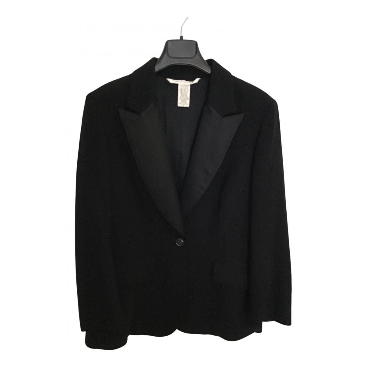 Diane Von Furstenberg \N Black Wool jacket for Women 12 US