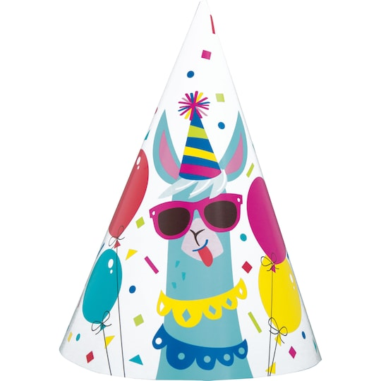 Llama Birthday Party Hats, 8Ct By Unique | Michaels®