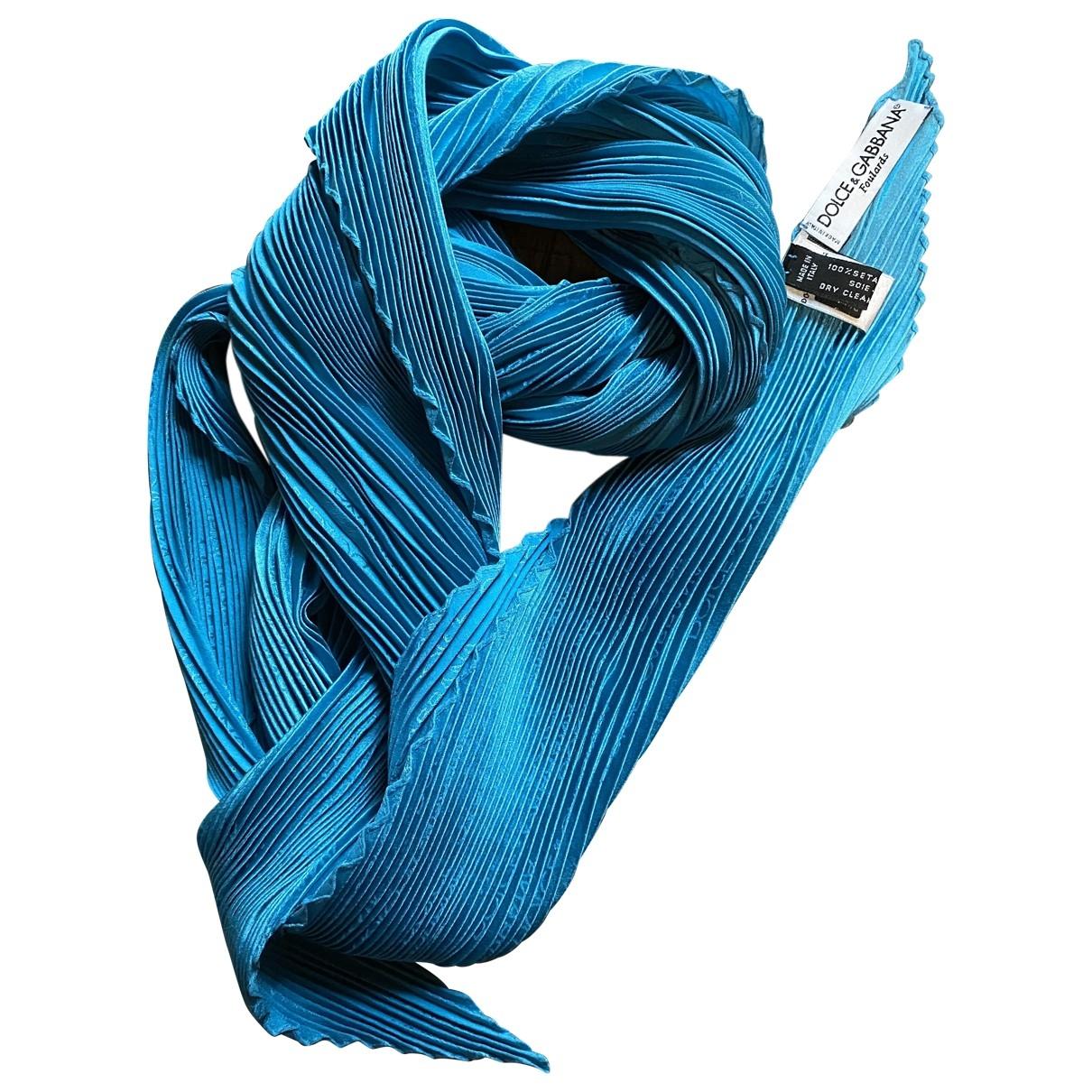 Dolce & Gabbana \N Turquoise Silk scarf for Women \N