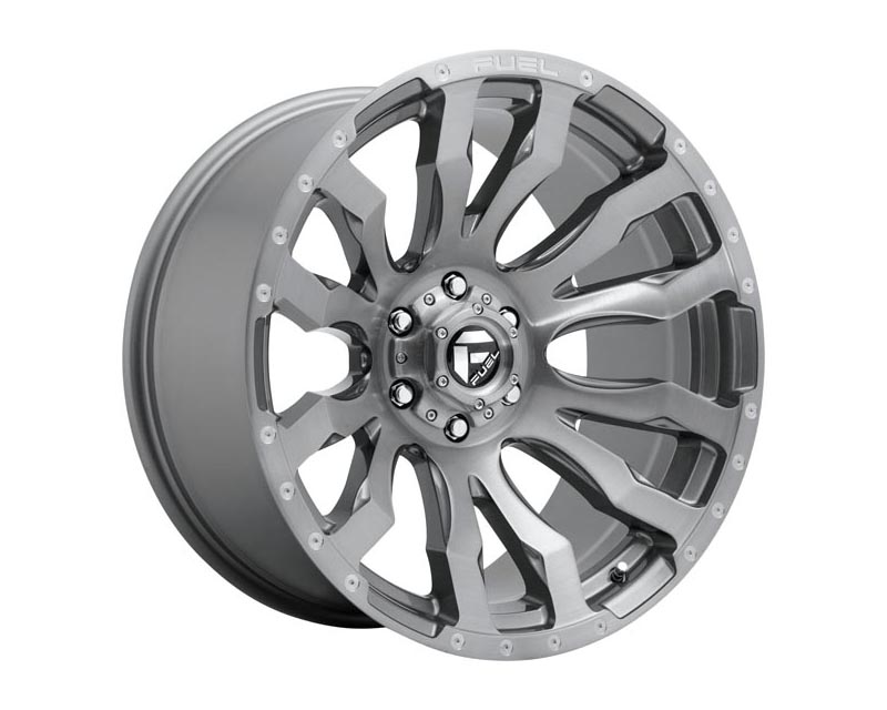 Fuel D693 Blitz Wheel 22x10 8X180 -18mm Platinum Brushed Gun Metal Tinted Clear