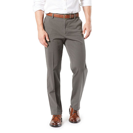 Dockers Men's Classic Fit Workday Khaki Smart 360 Flex Flat Front Pant D3, 38 32, Gray