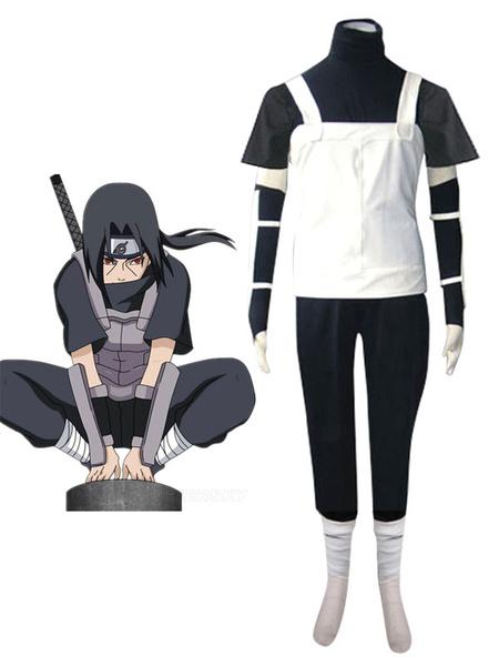 Milanoo Naruto Uchiha Itachi Halloween Cosplay Costume Anbu Uniform Halloween
