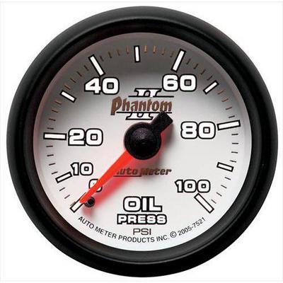Auto Meter Phantom II Mechanical Oil Pressure Gauge - 7521