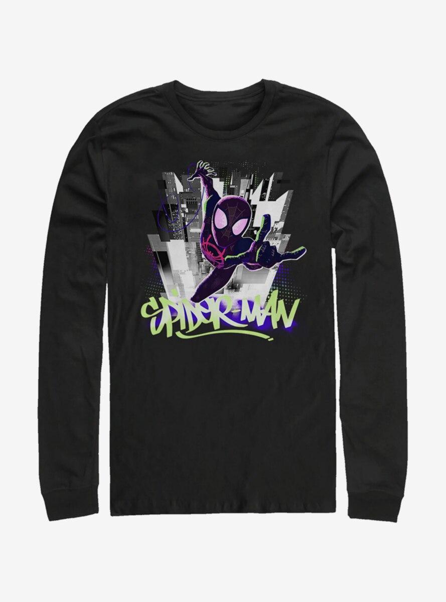 Marvel Spider-Man Brooklyn Graffiti Long-Sleeve T-Shirt